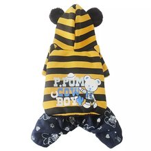 New Arrival Export pet dog clothes Autumn printing coat sport  jumpsuit small and medium