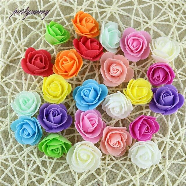 Pf 30 Pcs Rose Multicolore Epingles A Cheveux Simulation Fleur