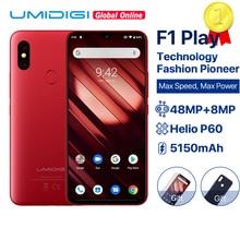 "UMIDIGI F1 לשחק אנדרואיד 9.0 6GB RAM 64GB ROM 48MP + 8MP + 16MP מצלמות 5150mAh 6.3 ""FHD + Helio P60 הגלובלי גרסת Smartphone הכפול 4G"