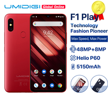 "UMIDIGI F1 Spielen Android 9,0 6GB RAM 64GB ROM 48MP + 8MP + 16MP Kameras 5150mAh 6.3 ""FHD + Helio P60 Globale Version Smartphone Dual 4G"