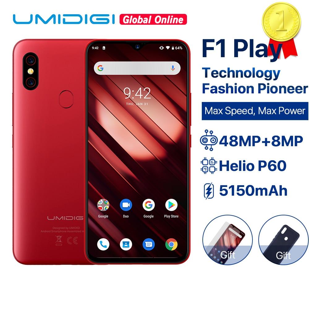 UMIDIGI F1 Play Android 9.0 6GB RAM 64GB ROM 48MP + 8MP + 16MP caméras 5150mAh 6.3