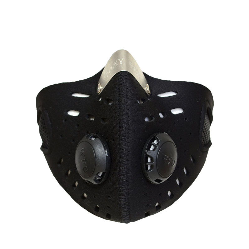 Anti-dust bicycle mask warm wind protection half face mask filter bike cycling motocycle mask for outdoor training face protect protective outdoor war game military skull half face shield mask black