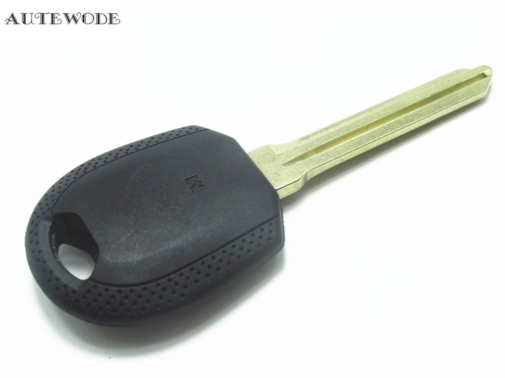 AUTEWODE New Replace Tranpoonder Key Shell fit for KIa Car key blank case cover left Blade auto parts 1pc
