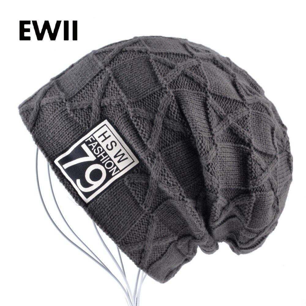 2017 Men Skullies Beanies Winter Hat Beanie Unisex Knitted Wool Cap Men Knit Hats Girls Casual Warm Bonnet Caps Bone Feminino