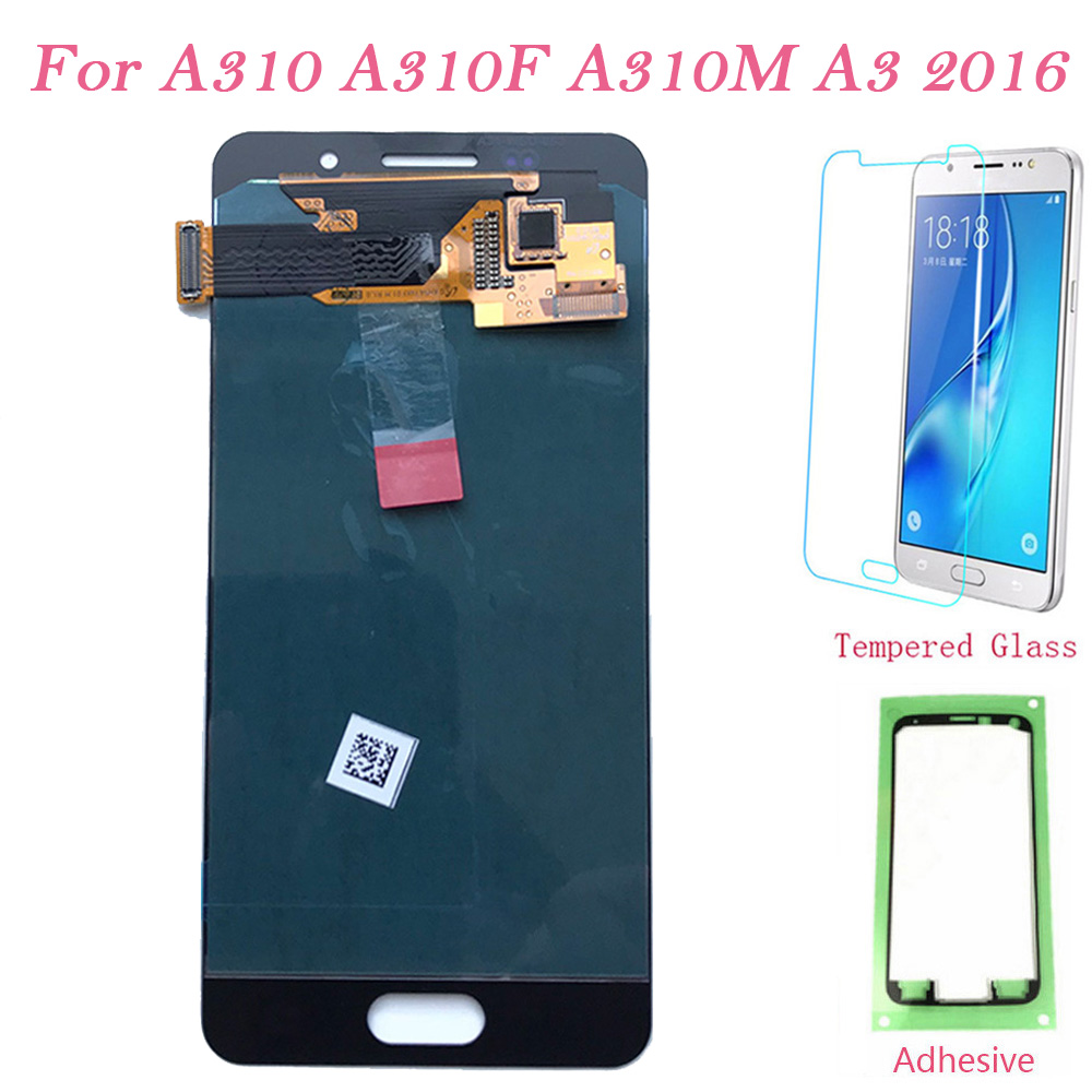Test LCD Screen <font><b>AMOLED</b></font> For Samsung Galaxy A310 Touch Screen Digitizer LCD <font><b>Display</b></font> For Samsung A3 2016 <font><b>A310F</b></font> A310M Assembly TFT image