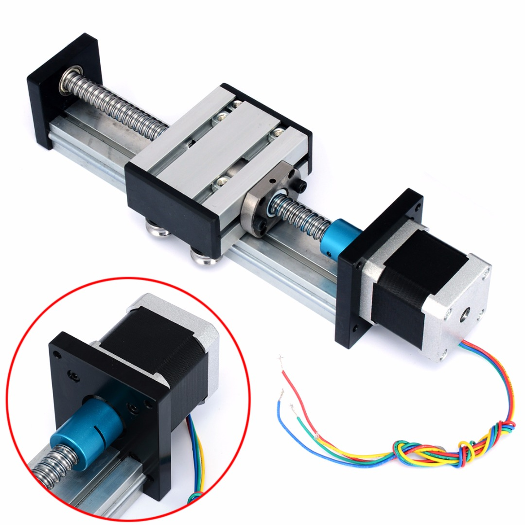 Durable Ball Screw 1204 Linear Slide Stroke 100MM Long Stage Actuator Stepper Motor Mayitr CNC Ball Screw with Screw Nut Ball belt driven linear slide long travel distance guideway linear actuator