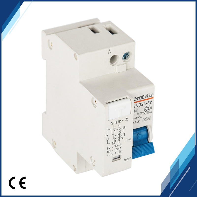 HTB1 fuNlbArBKNjSZFLq6A dVXau - 2018 new arrival short circuit and Leakage protection residual current Circuit breaker DPNL 1P+N16A 20A 25A 32A 230V~ 50HZ/60H