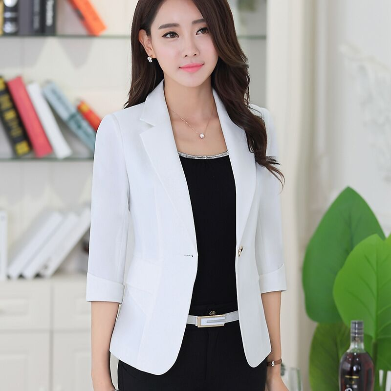 Suits & Sets Spring Autumn Fall Black Blue Uniform Styles Formal Blazers Suit Women Jackets Coat Office Ladies Work Wear Tops Clothes Blaser Soft And Light Back To Search Resultswomen's Clothing