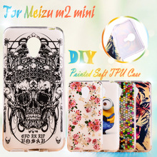 AKABEILA Painted TPU Phone Cases For Meizu M2 Mini Meilan 2 Dual SIM 4G LTE Meilan2