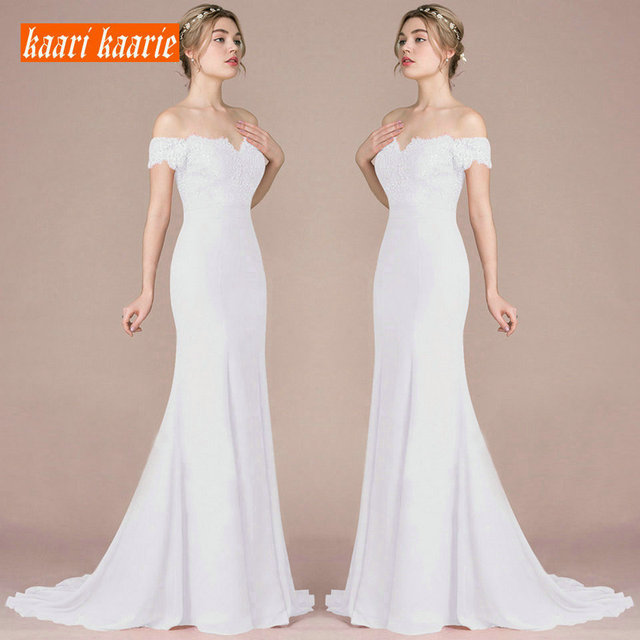 Formal Mermaid Wedding Dress Long 2019 Sexy Ivory Wedding Gowns For Women Sweetheart Satin Lace Appliques Bridal Party Dresses
