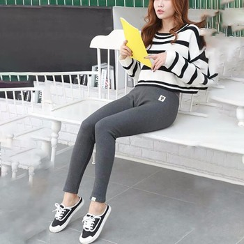 2019 New Fashion Women's Autumn And Winter High Elasticity And Good Quality Thick Velvet Pants Warm Plus Size Cotton Leggings 1