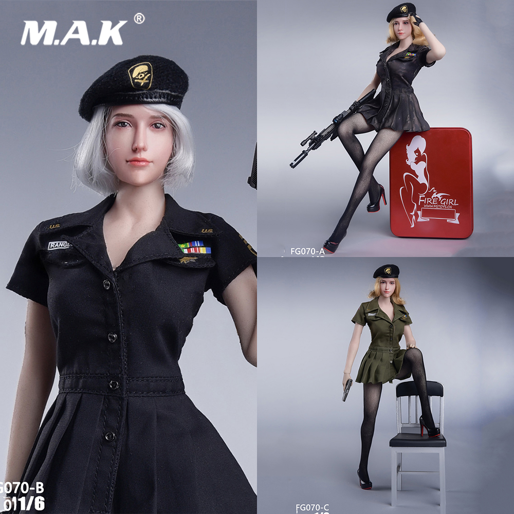 1//6 Women Military Style Summer Outfits For Phicen Hot Toys Kumik SHIP FROM USA