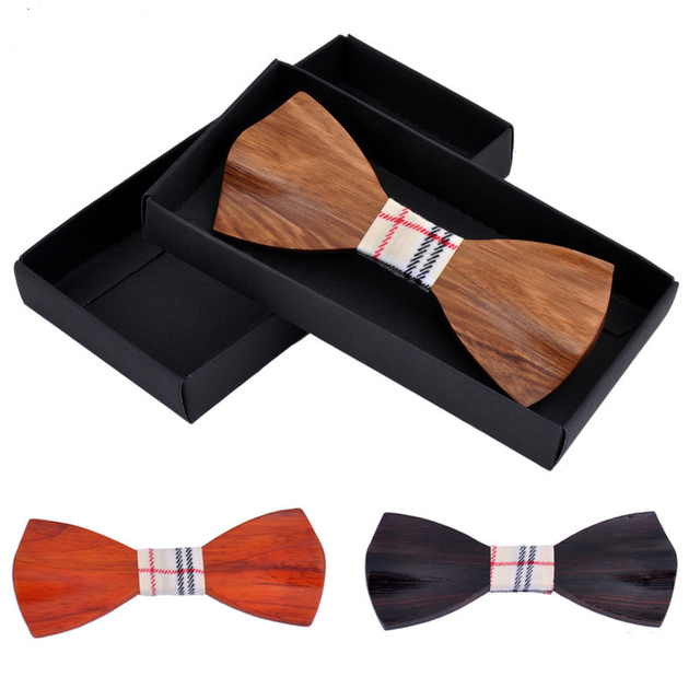 Nova Novidade Madeira Capina Gravata Para Os Homens de Melhor Qualidade Madeira clássico Bowties Gravata Borboleta Laços de Madeira 3D De Madeira Feitos À Mão Gravata