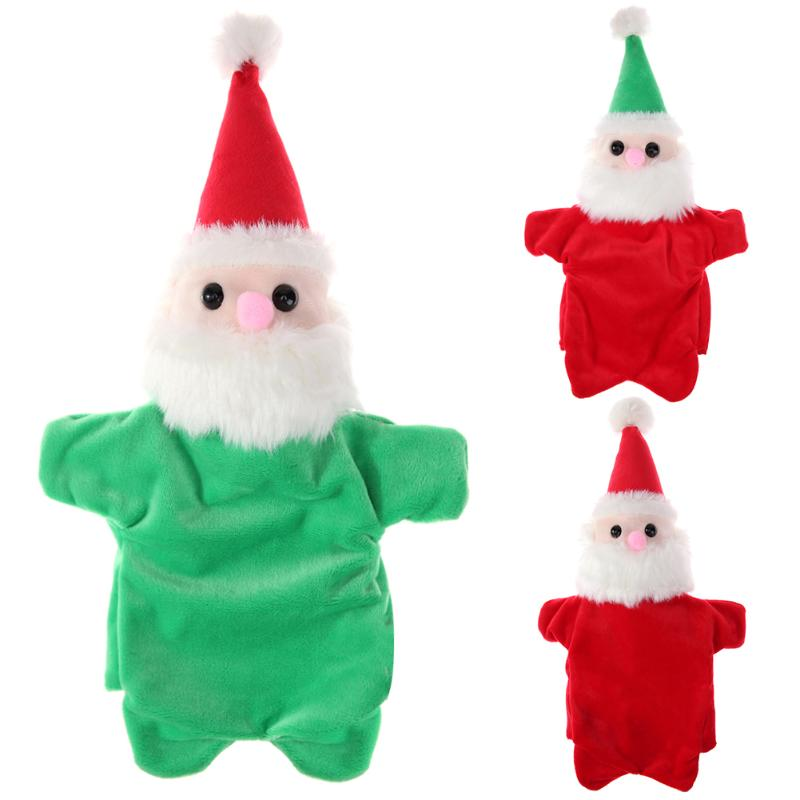 Christmas Santa Claus Finger Puppets Plush Toys Baby Stories Helper Fingers Toys Kids Gifts Kindergarten Teaching Education Toy