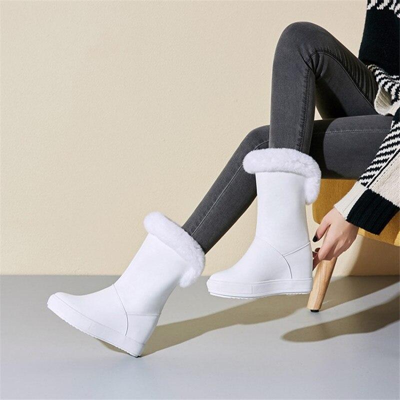 Женская обувь; коллекция 2019 года; зимняя теплая женская обувь на плоской подошве, увеличивающая рост; Повседневные Вечерние туфли на плоско...