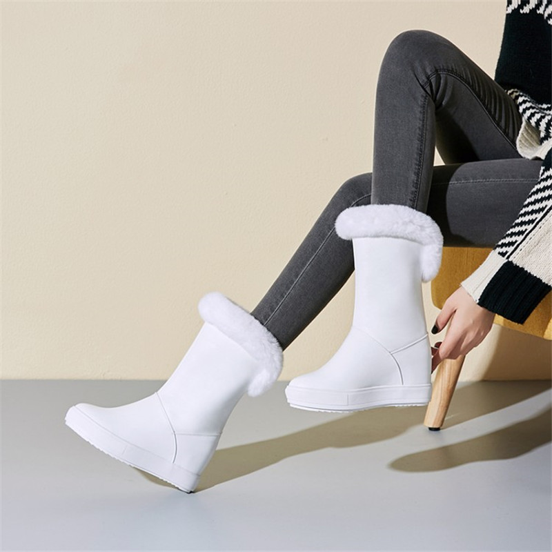 Shoes woman2019 winter cold warm flat with the increase in women's shoes flat casual dating party shoes