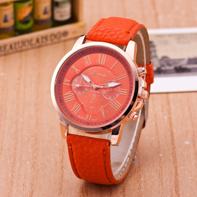 Quartz Wristwatches Woman Watches Luxury Stylish Watch Three-Eye Double-Faced Roman Digital Belt Watch Womens Wristwatch Antique