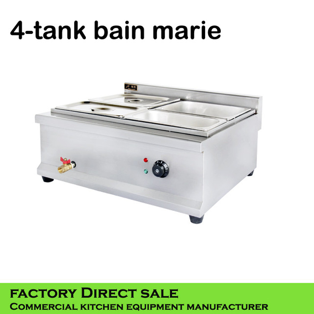 Wholesale Kitchen Appliances Metal Island Cart Food Warmer Factory Equipment Electric Deep Bain Marie
