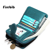 FireBib Neue Brieftasche Frauen Geldbörse Marke Geldbörse Reißverschluss Brieftasche Weibliche Kurze Brieftasche Frauen Split Echtem Leder Kleine Geldbörse