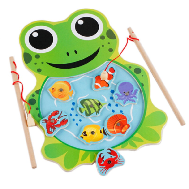 Montessori Wooden Classic Fishing Creative Kids Toys For