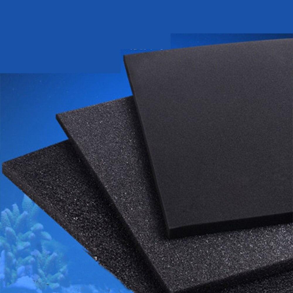 New Biochemical Cotton Aquarium Fish Tank Pond Sponge Filter Foam Aquatic Terrarium Fish Tank Filter Accessories Black