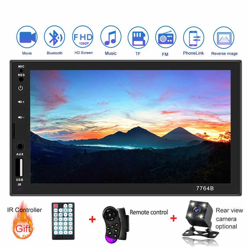 2DIN カーラジオ 7 インチタッチ MirrorLink Android プレーヤー 2 Din MP5 Autoradio Bluetooth リアビューカメラ