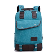Hot Canvas Backpack Men Large Capacity Laptop Bag Casual Travel Rucksack Computer Notebook Bag Schoolbags