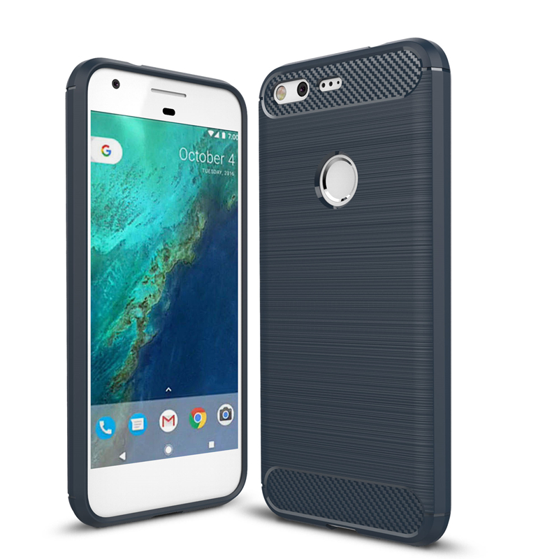 Google Pixel Pixel XL Anti-Knock Hybrid Super Armor Rugged Carbon Fiber Brushed TPU Phone Funda Cover