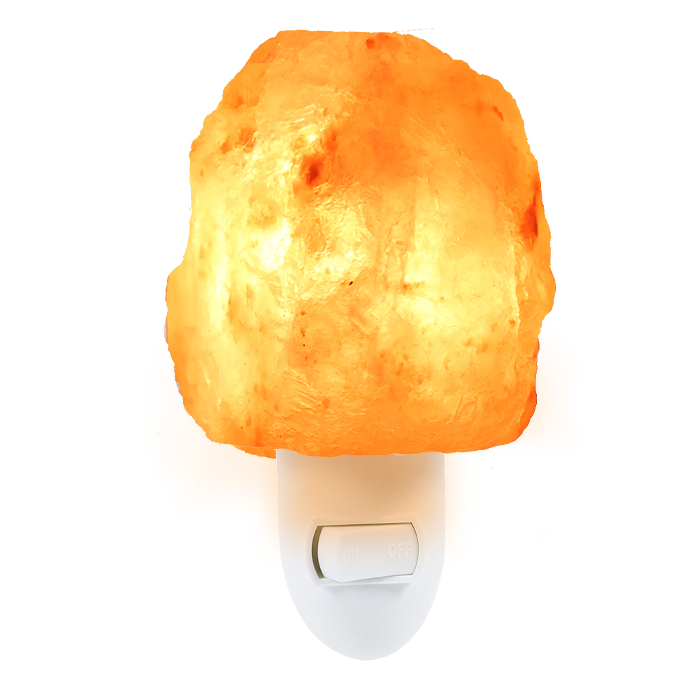 Lightme Natürliche Shaped Salt Rock Nacht Licht Hand Geschnitzt Kristall Wand Lampe Halloween Lichter