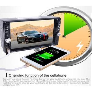 "Image 3 - Hikity Car Auto Media Player 2 din Autoradio USB Bluetooth FM Car Radio Multimidia MP5 12V HD 7"" 2din Touch Screen Stereo Radio"