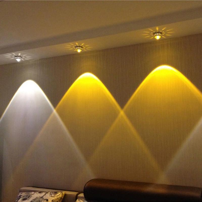 3 ワットクリスタル led シーリングライトレストラン ktv 通路リビングルームのバルコニーランプ近代的な led 照明装飾照明器具 -