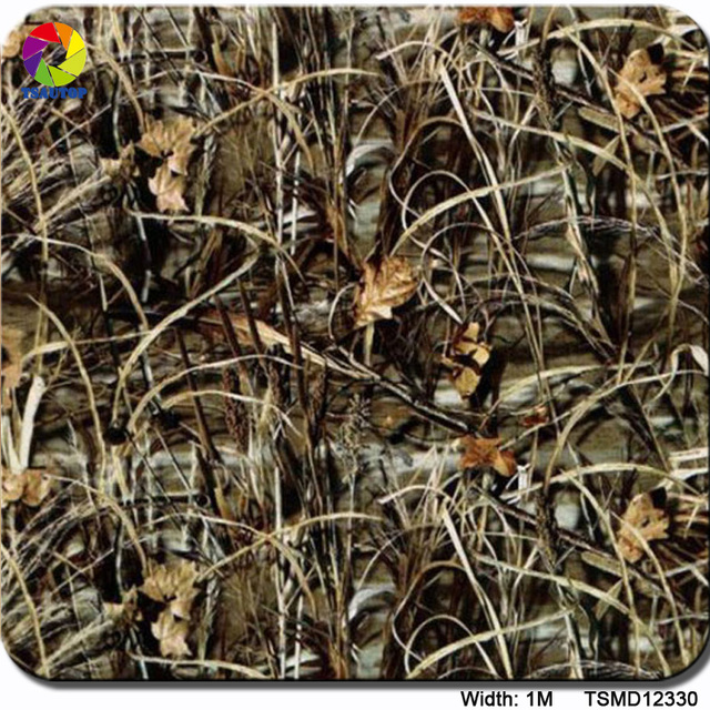 Free shipping  0.5m*2m/10m grass camo patterns water transfer film TSMY12330 hydrographic film