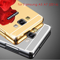 Чехол для Samsung A5 A7 2016 Алюминий + Покрытие зеркало Задняя Крышка Аксессуары Гибридный Дело Полная защита для Galaxy A5100 A7100