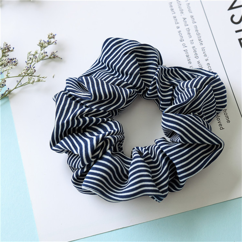 LIGHT BLUE DENIM SCRUNCHIE ELASTIC HAIR BAND BOBBLE LADIES GIRLS NEW