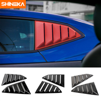 SHINEKA ABS Car Styling Window Shades Louver Cover Black Window Blinds For Chevy Camaro 2017