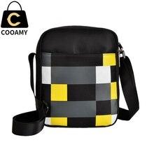 COOAMY women bag Dambrod pattern men messenger bags Hot Sale women's handbag crossbody shoulder bags bolsas femininas