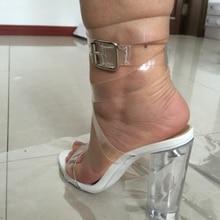 2016 echt PVC Frauen Sommer Stil Schuhe Schnalle Weiß Partei Schuhe Mode Heels Schuhe Nach maß Plus Größe Schuhe