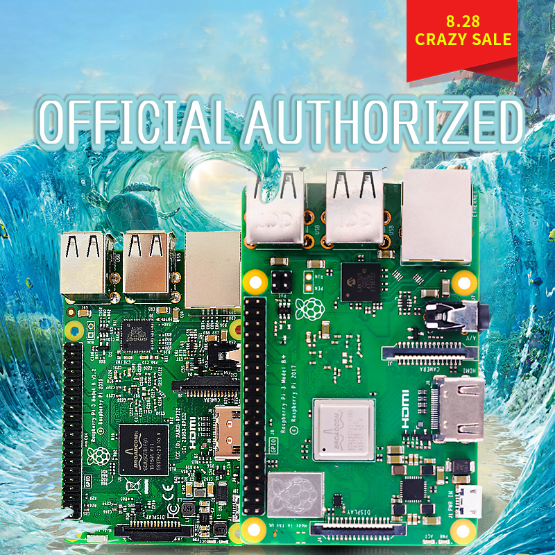 Original 2018 Neue Raspberry Pi 3 Modell B + plus Board 1 gb LPDDR2 BCM2837B0 Quad-Core Ras PI3 b, PI 3B mit WiFi & Bluetooth