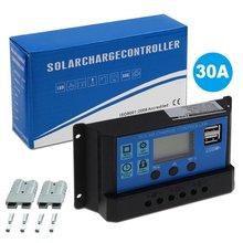 30A PWM Панели солнечные Регулятор 12 V-24 V Контроллер заряда автоматический двойной USB цифровой Дисплей для свинцово-кислотных батарей ЖК-дисплей коллектор