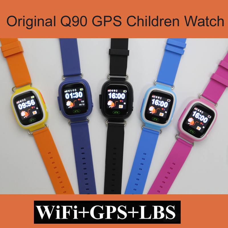 <font><b>GPS</b></font> Q90 WIFI Positioning kids Children Smart baby Watch SOS Call Location Locator <font><b>Tracker</b></font> Kid Safe Anti Lost Monitor smart watch