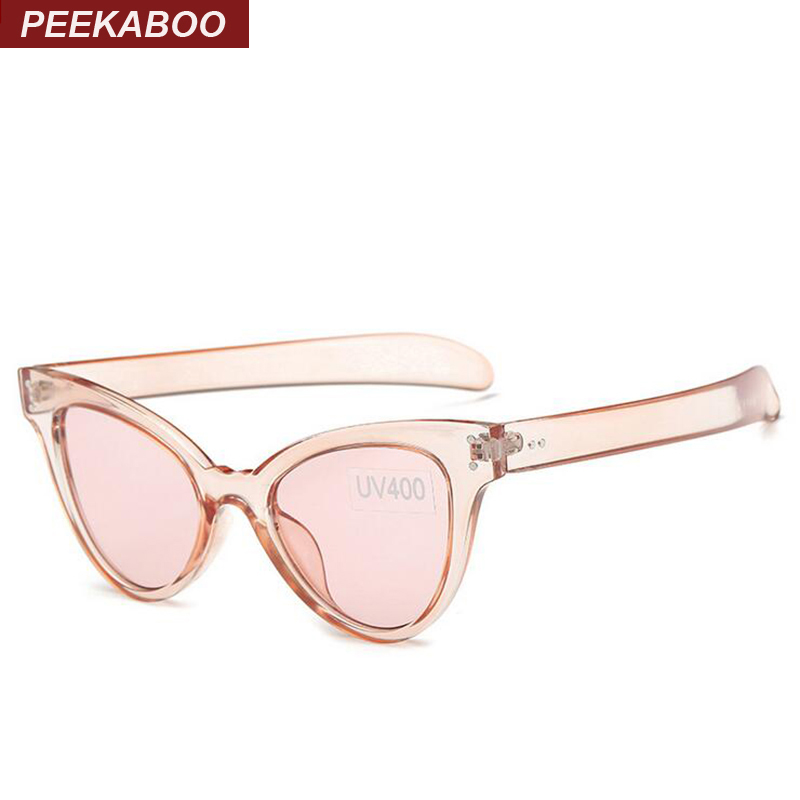 Peekaboo New 2016 fashion mirror cat eye sunglasses