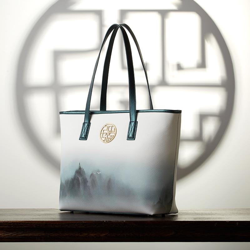Pmsix Schulter Leder Druck Damen Große In Eimer Weibliche Tasche Marke Womens'bag Pu Kapazität Designer Handtaschen Berühmte 4wqYOv4r