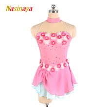 Nasinaya Figure Skating Dress Customized Competition Ice Skating Skirt for Girl Women Kids Patinaje Gymnastics Performance 235