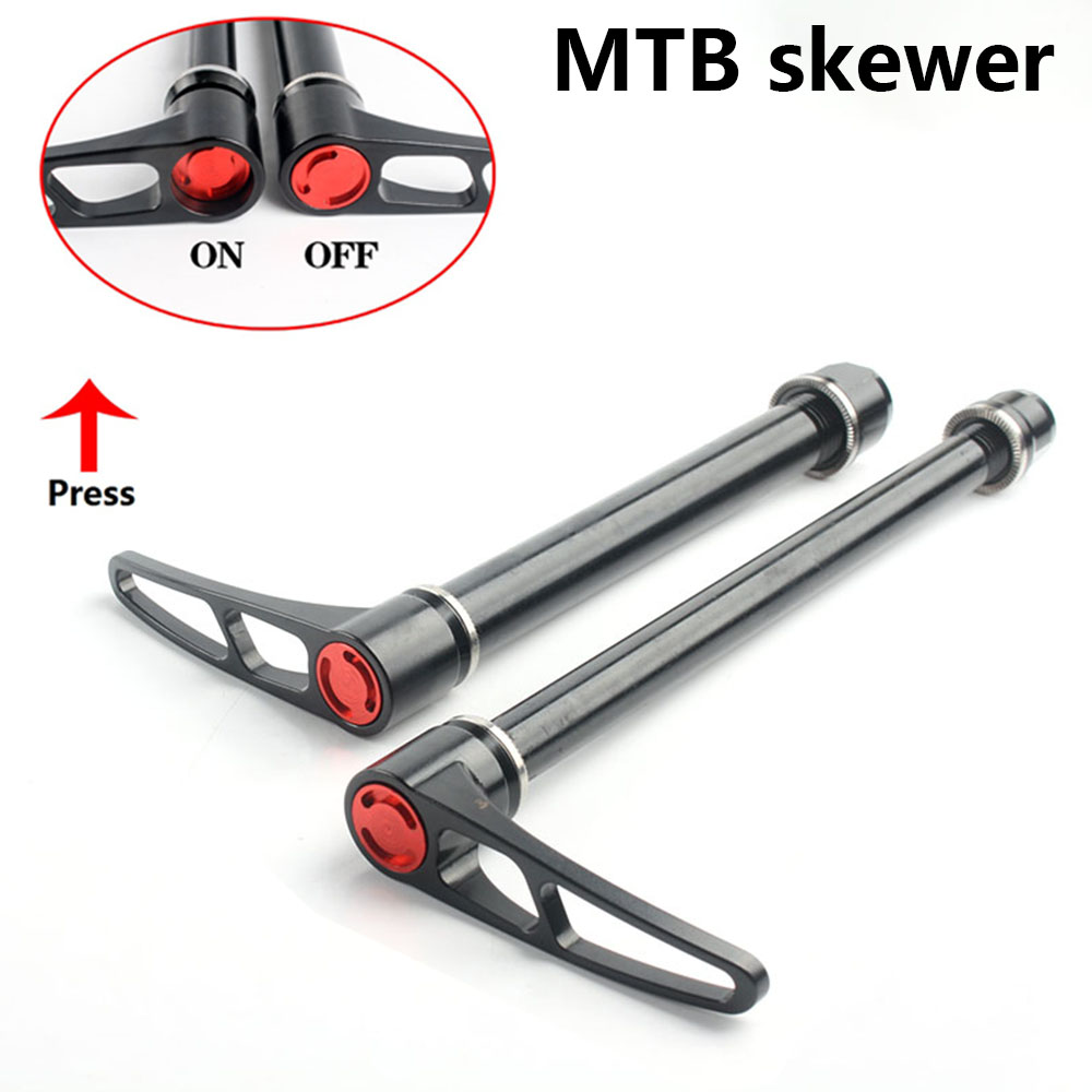142*12 skewers quick release Rear Axle for Mountain MTB Bike thru wheels frame