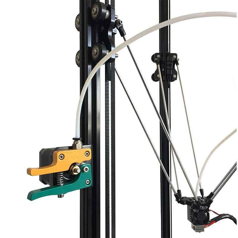 Высокоточный HE3D K280 большой размер 280 мм * 600 мм delta автоматическое выравнивание одиночный экструдер DLT-K280 3D принтер DIY комплект с тепловым покрытием