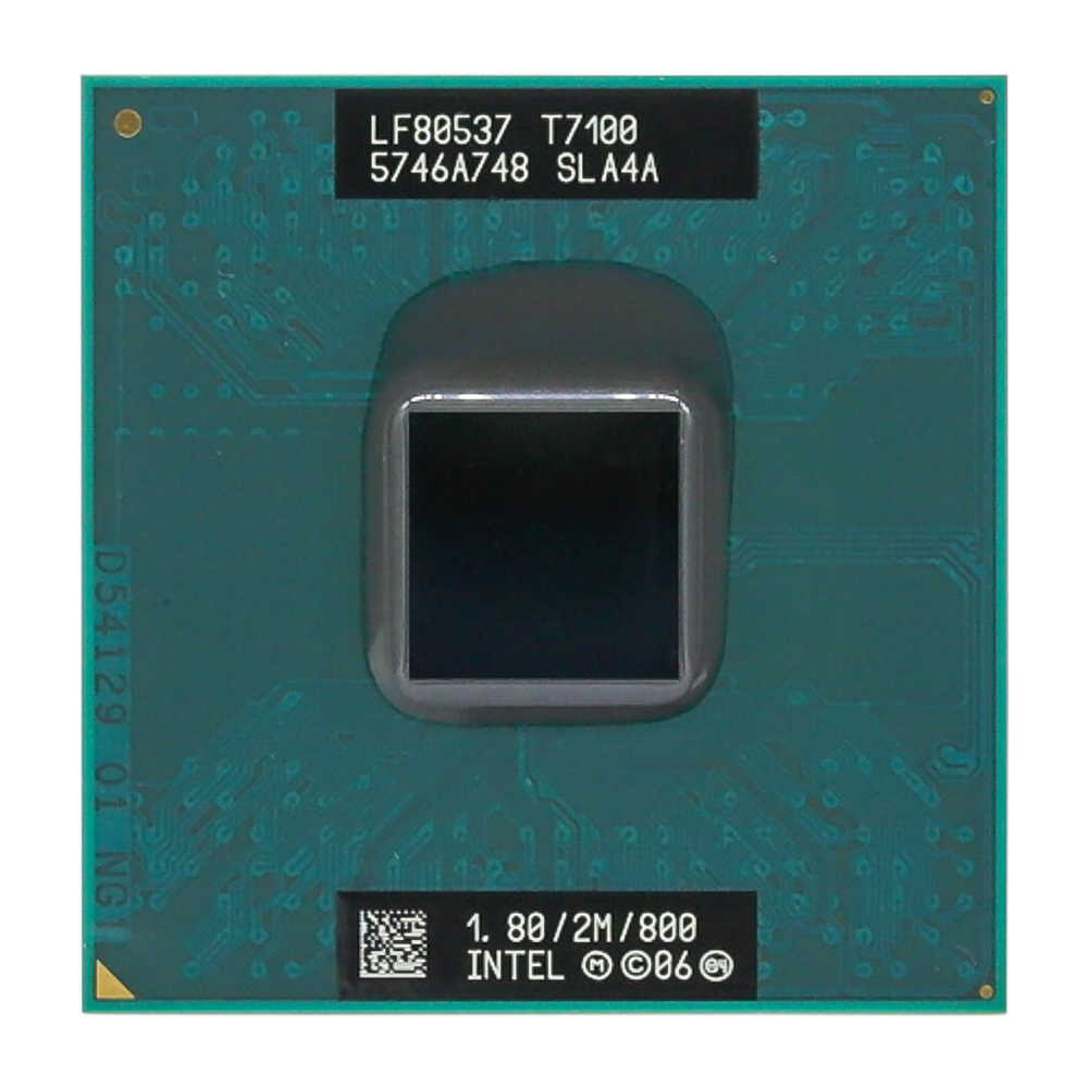 معالج حاسوب محمول Intel CPU Core 2 Duo T7100 CPU بمقبس 2 متر وذاكرة وصول عشوائي 479/1.8 جيجاهرتز/800/معالج حاسوب محمول ثنائي النواة