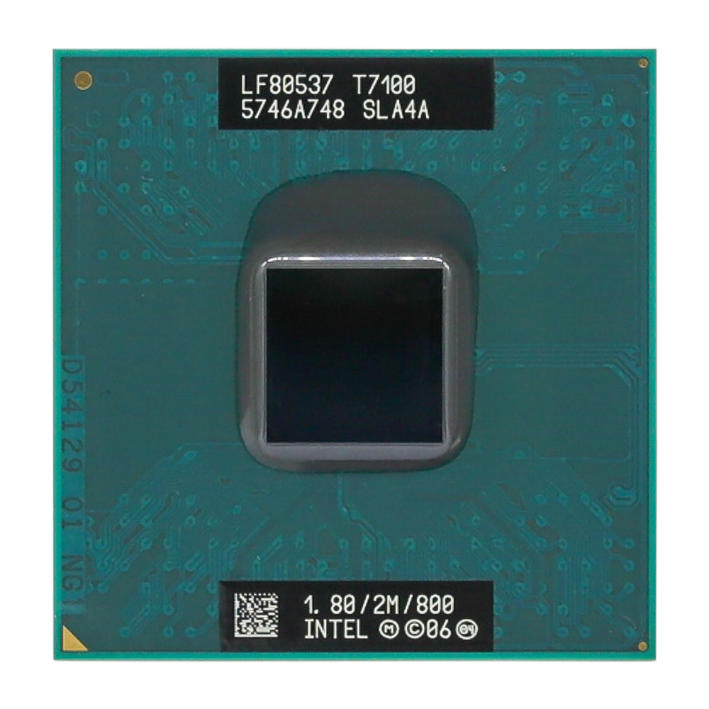 Intel CPU Laptop Core 2 Duo T7100 CPU 2M Socket 479 Cache/1.8GHz/800/Dual-Core Laptop Processor