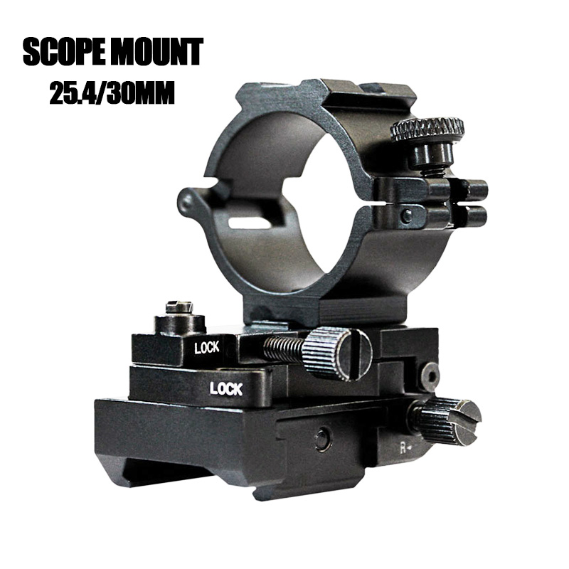 Drop shipping Tactical Mount 11mm Laser Flashlight Mount 25 4mm and 30mm Rifle Scope Mount Adjustable