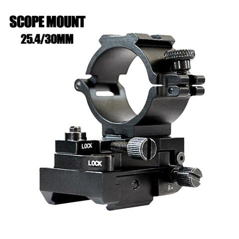 transporte da gota montagem tatica 11mm laser lanterna montagem 25 4mm e 30mm rifle escopo