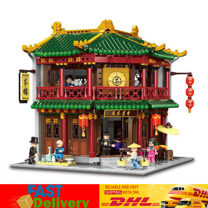 XINGBAO 01021 3033Pcs Classic Tea House Chinese Building Series The Toon Set Model Building Blocks Bricks Toys for Children
